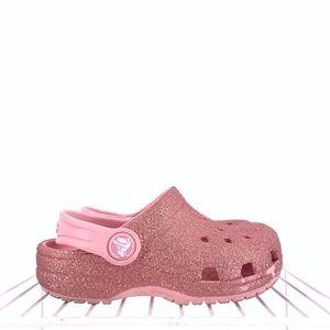 Crocs Girls Sparkly Sandals Size 8c